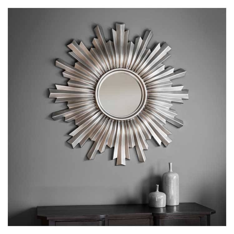Sunburst Mirrors | Exclusive Mirrors Pertaining To Large Round Silver Mirrors (#28 of 30)