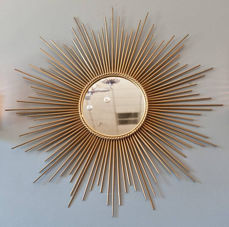 Sunburst Mirrors Festival: Black, Gold And Silver Mix Intended For Large Sunburst Mirrors (#18 of 20)