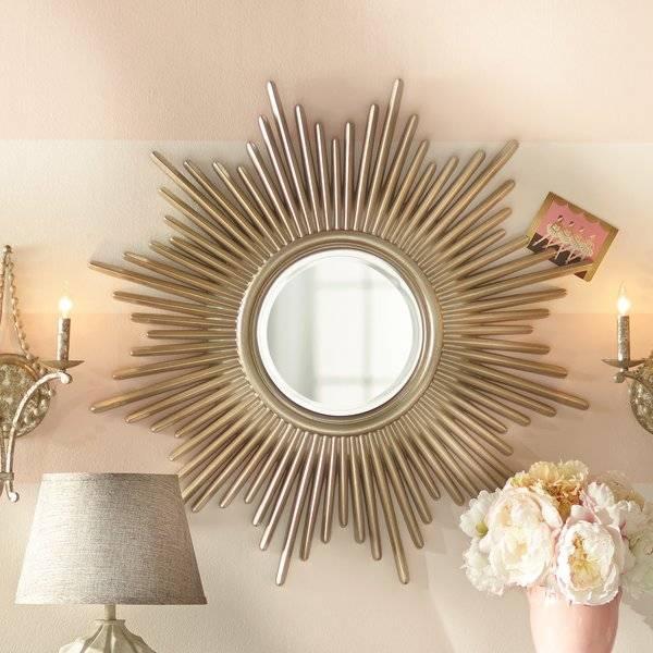Sunburst Mirrors You'll Love | Wayfair Inside Bronze Starburst Mirrors (View 17 of 20)