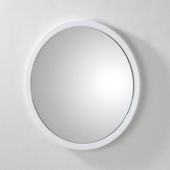 Sweden3 Bathroom Mirror In White With Shelf 13560 Furniture For White Round Mirrors (#27 of 30)