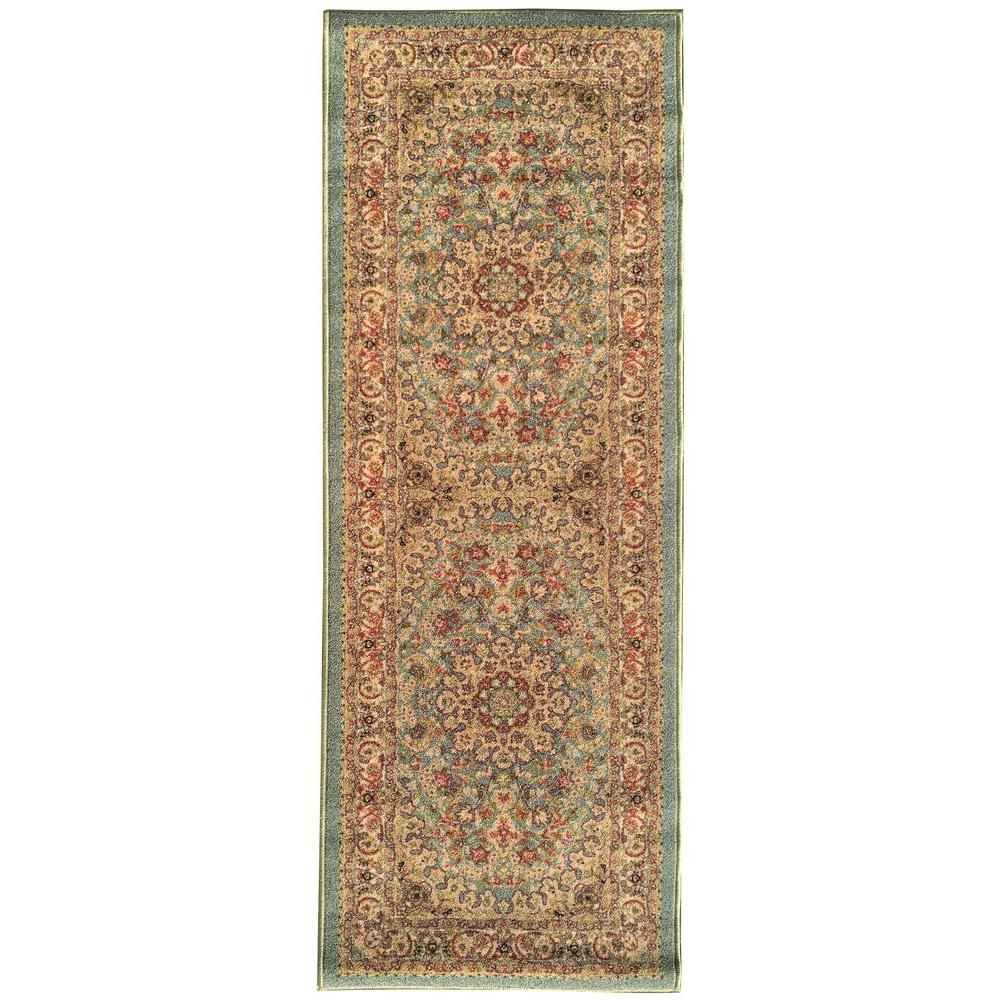 Sweet Home Stores Sweet Home Collection Medallion Design Ocean Within Rug Runners Green (#18 of 20)