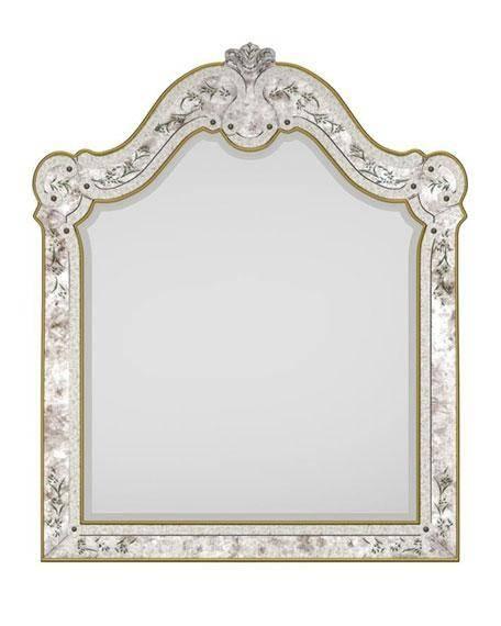 Swirls Gold Trim Mirror Inside Gold Venetian Mirrors (#12 of 20)