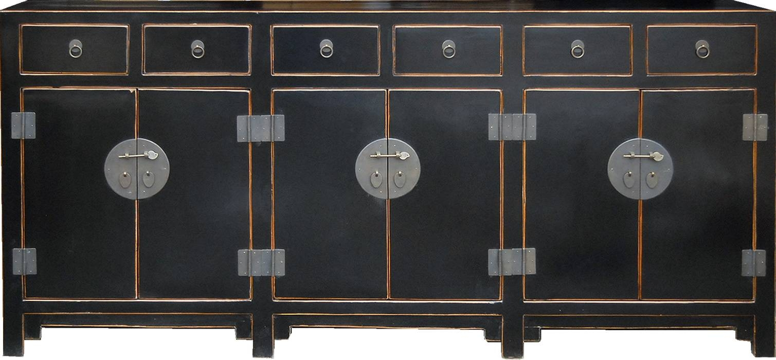 T2626br Teng Lacquered And Rattan Sideboard In Chinese Sideboards (View 2 of 20)