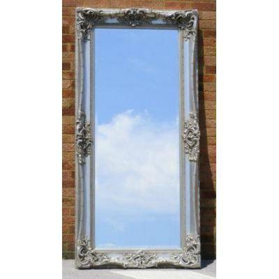 Tall 7Ft Ornate Silver Monaco Mirror  Ayers & Graces Online Regarding Tall Silver Mirrors (#14 of 20)