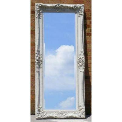Tall 8Ft Ornate Silver Monaco Mirror – Ayers & Graces Online With Long Silver Mirrors (#25 of 30)