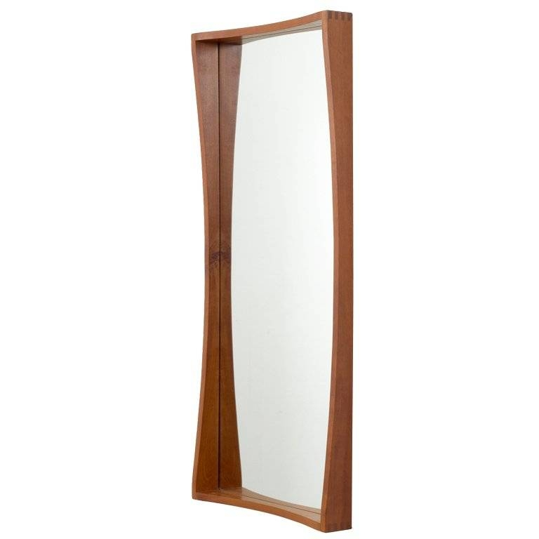 Tall And Narrow Danish Teak Entry Way Mirror For Sale At 1stdibs With Tall Narrow Mirrors (View 8 of 30)