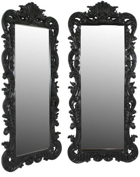 Tall Black Mirror Images – Reverse Search For Black Rococo Mirrors (#29 of 30)