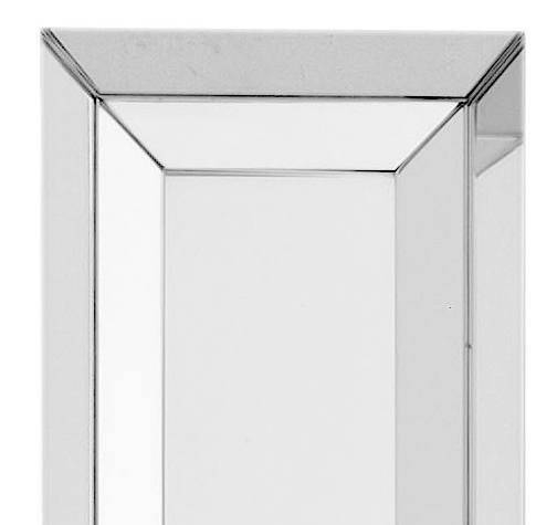 Tall Contemporary Slimline Bevelled Wall Mirror | Juliettes Inside Bevelled Wall Mirrors (#19 of 20)