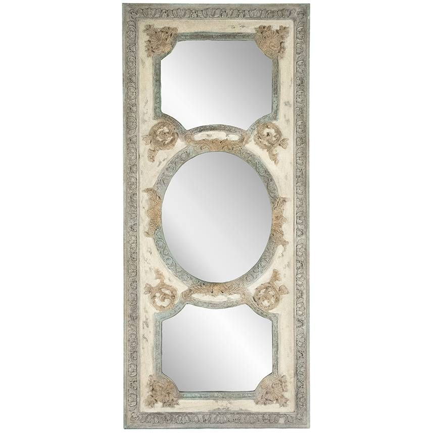 Tall Ornate French Cream Mirror – Vintage French For Tall Ornate Mirrors (#23 of 30)