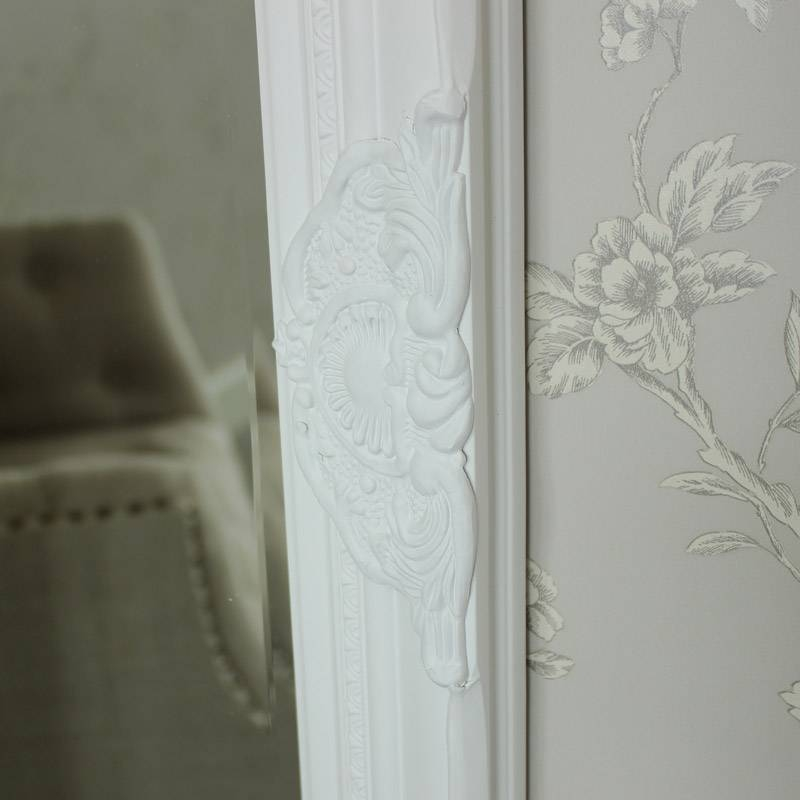 Tall Ornate White Framed Mirror – Melody Maison® Throughout Tall Ornate Mirrors (#24 of 30)