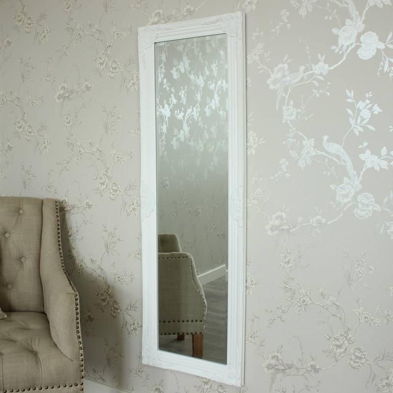 Tall Ornate White Framed Mirror – Melody Maison® Within Tall Ornate Mirrors (#25 of 30)