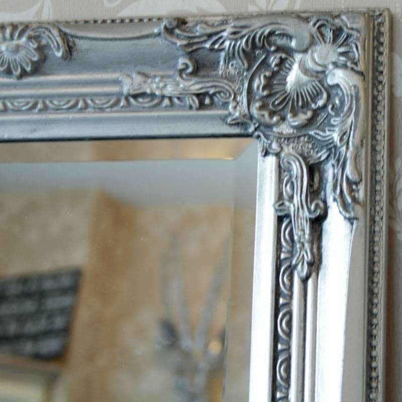 Tall Silver Mirror – Melody Maison® Inside Ornate Silver Mirrors (View 9 of 20)