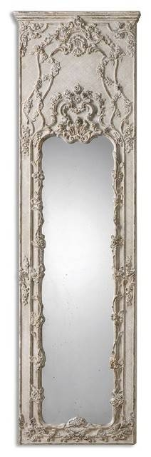 Tall Victorian Ornate Ivory Mirror – Victorian – Floor Mirrors Pertaining To Victorian Floor Mirrors (#26 of 30)