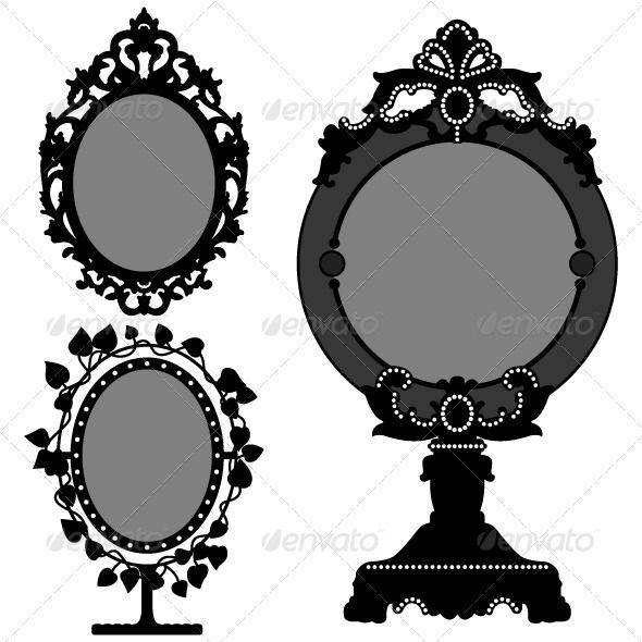 The 25+ Best Vintage Mirror Tattoo Ideas On Pinterest | Mirror Inside Black Antique Mirrors (View 18 of 30)