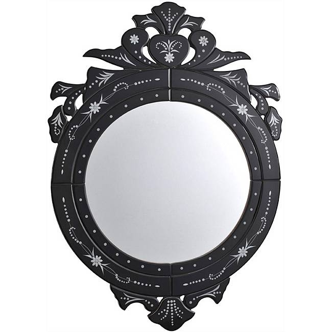 The Beauty Of Oval Venetian Mirror Black Glass Venetian Mirror Pertaining To Black Venetian Mirrors (#24 of 30)