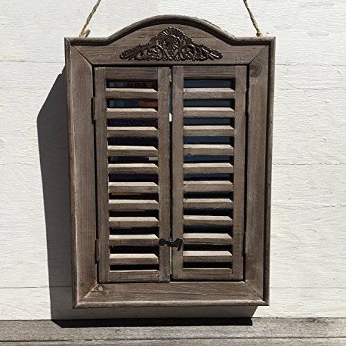 The French Country Style Rustic Window Mirror With Shutters Within Wall Mirrors With Shutters (#17 of 20)