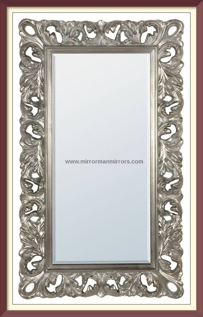 The Silver French Baroque Mirror The Silver French Baroque Mirror In Silver Baroque Mirrors (#22 of 30)