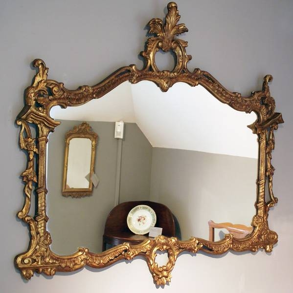The Smooth Wave On Antique Wall Mirrors | Stakinc For Landscape Wall Mirrors (#23 of 30)