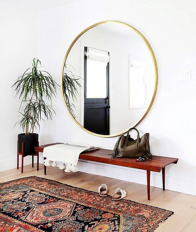 This Chic Item Can Make Any Room Look Bigger | Mydomaine Throughout Large Round Mirrors (#20 of 20)