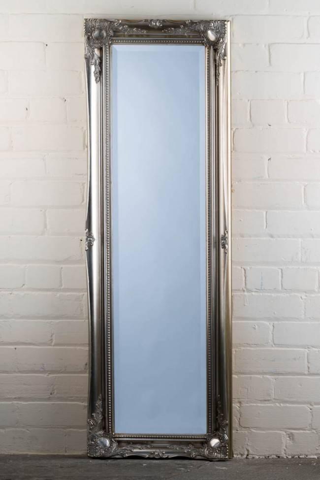 This Great Value Full Length Tudor Ornate Mirror In Silver Is In Full Length Silver Mirrors (#18 of 20)