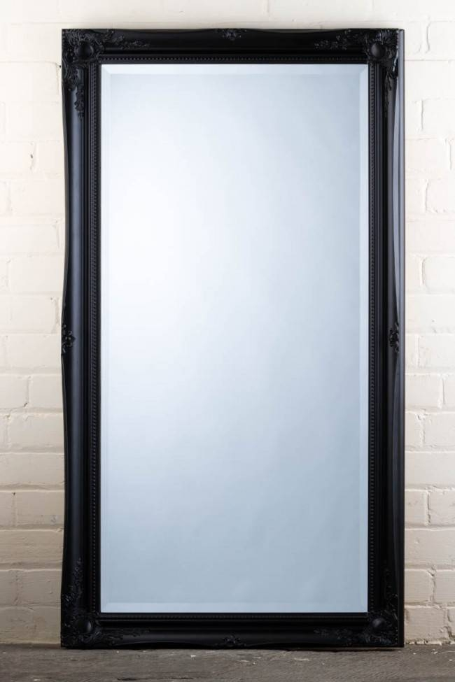This Great Value Wide Full Length Tudor Ornate Mirror In Black Is Intended For Full Length Ornate Mirrors (#26 of 30)
