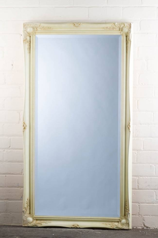 This Great Value Wide Full Length Tudor Ornate Mirror In Cream Is With Regard To Full Length Ornate Mirrors (#27 of 30)