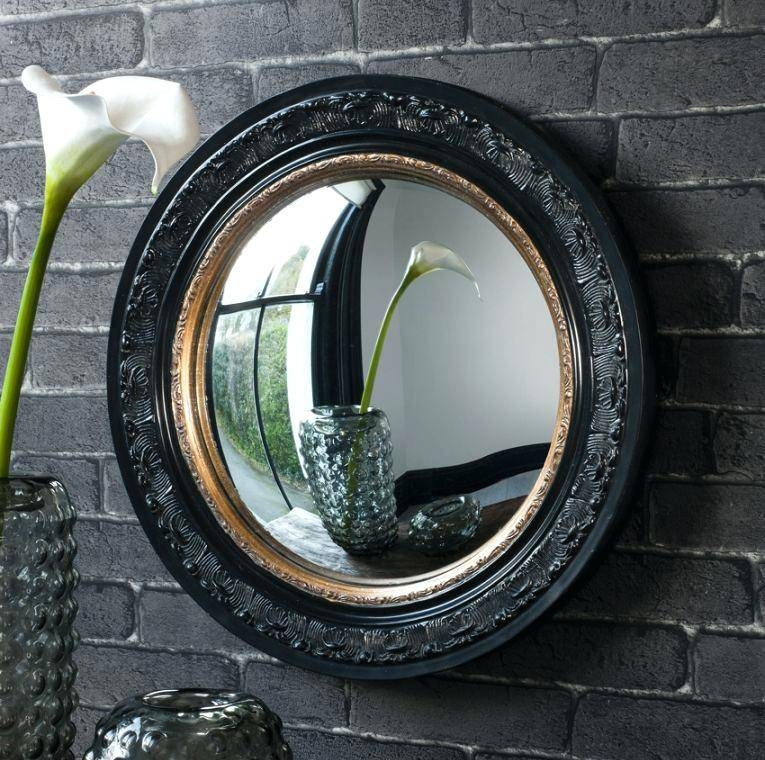 This Large Black Oval Rococo Decorative Mirror Is Stunning And Within Convex Decorative Mirrors (View 7 of 30)