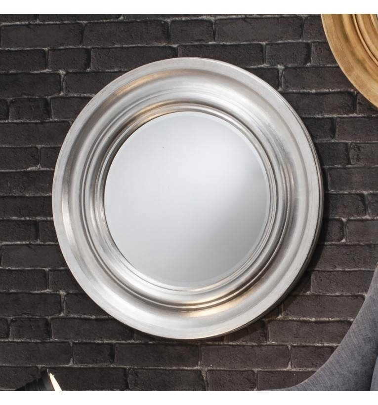 Thresea Round Silver Mirror 84 Cm Theresa Round Silver Mirror 84Cm With Regard To Silver Round Mirrors (#29 of 30)