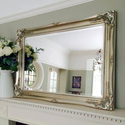 Timeless Classic Champagne Silver Gilt Swept Mirror Within Champagne Silver Mirrors (#15 of 15)