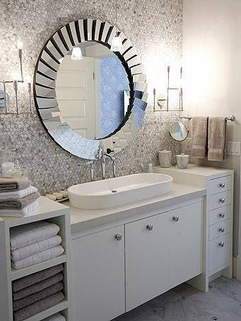 To Da Loos: 12 Round Bathroom Vanity Mirrors Throughout Funky Mirrors For Bathrooms (#19 of 20)