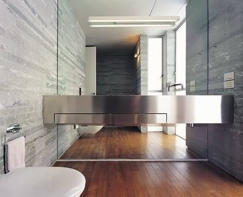 To Da Loos: Gorgeous Floor To Ceiling Mirrors Behind The Bathroom Throughout Floor To Ceiling Mirrors (View 5 of 20)