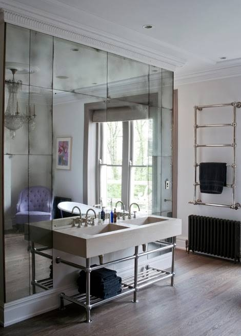 To Da Loos: Gorgeous Floor To Ceiling Mirrors Behind The Bathroom Throughout Floor To Ceiling Mirrors (View 2 of 20)