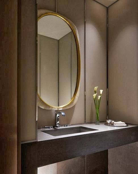 To Da Loos: Large Round Mirrors In The Bathroom – My Latest Obsession With Regard To Very Large Round Mirrors (#26 of 30)