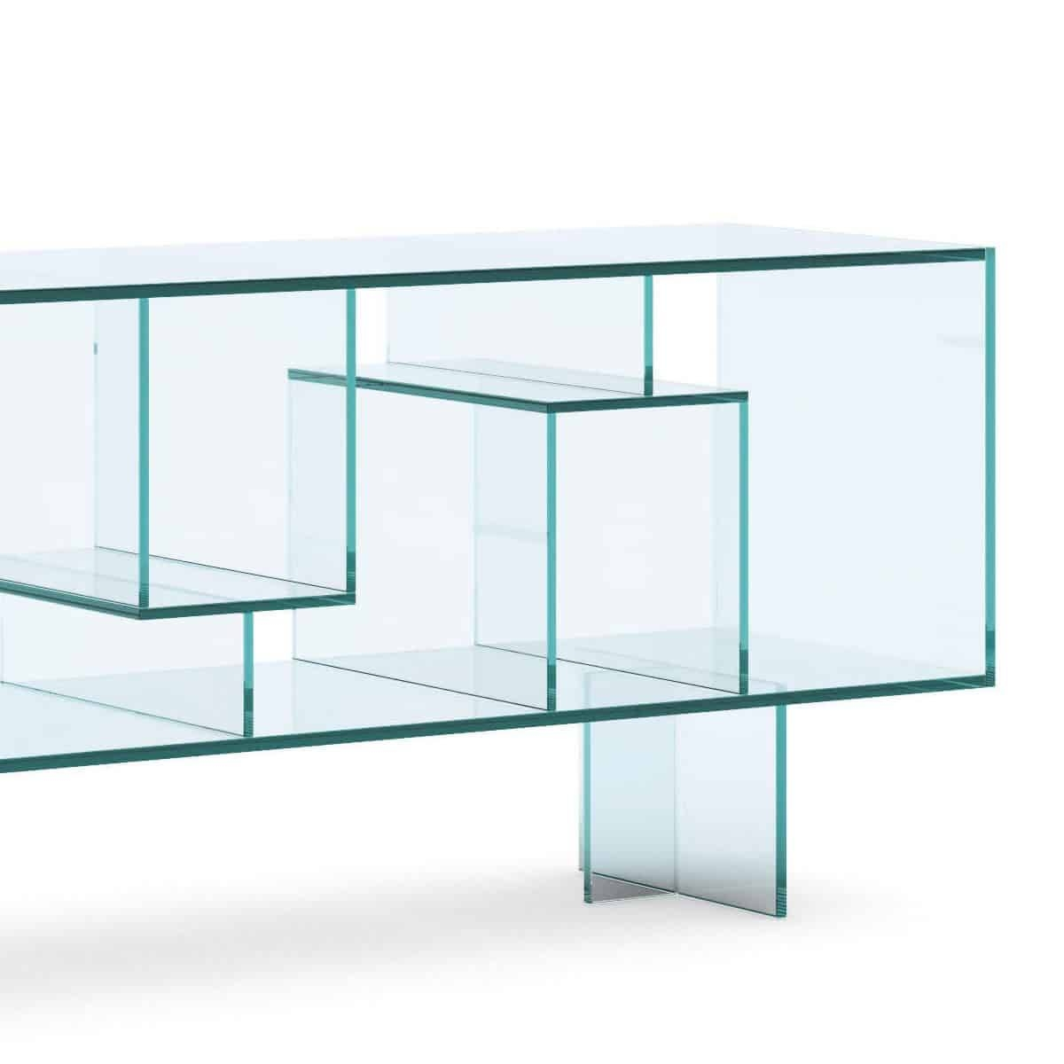 Tonelli Liber M Glass Sideboard – Klarity – Glass Furniture For Glass Sideboard (#19 of 20)