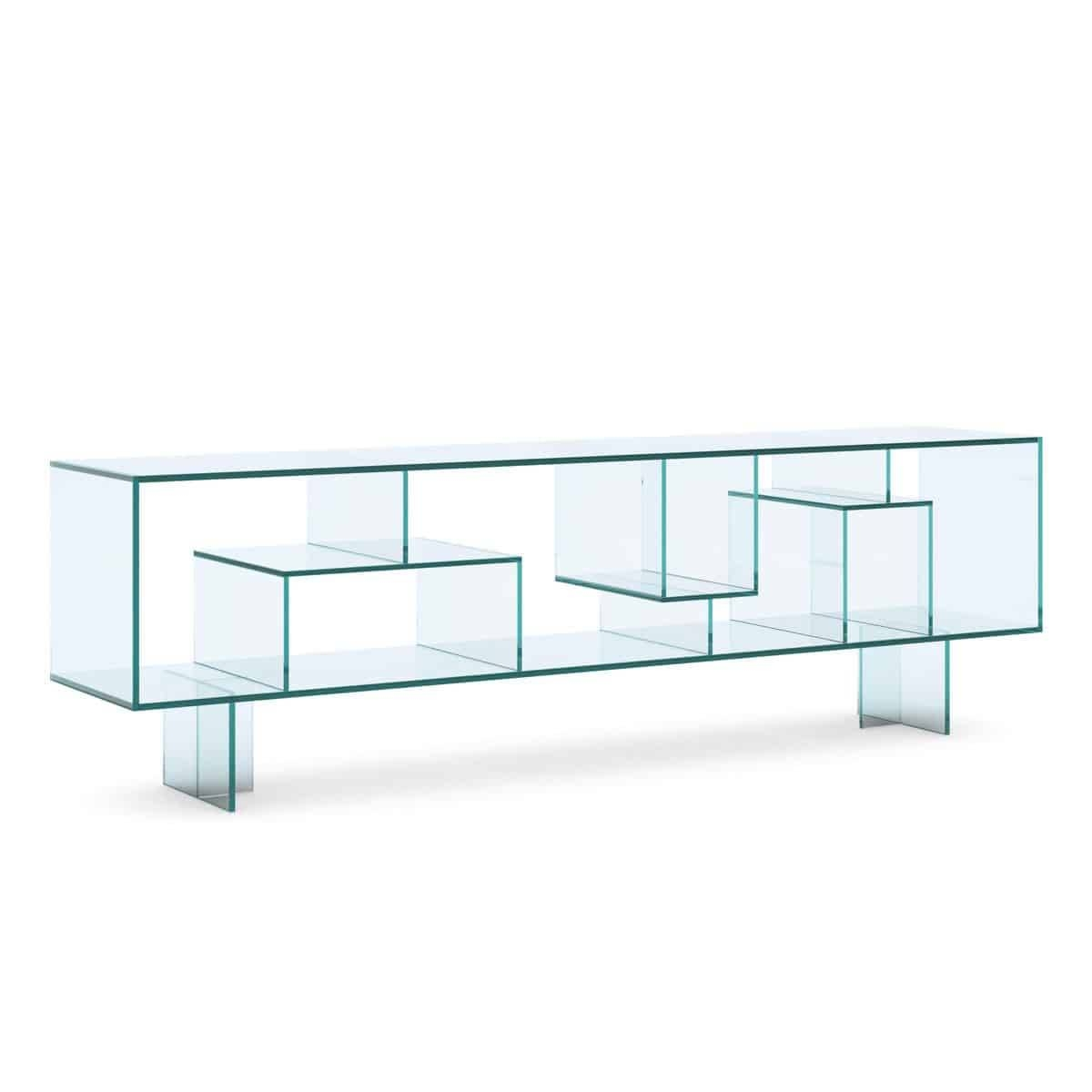 Tonelli Liber M Glass Sideboard – Klarity – Glass Furniture Inside Glass Sideboard (#20 of 20)