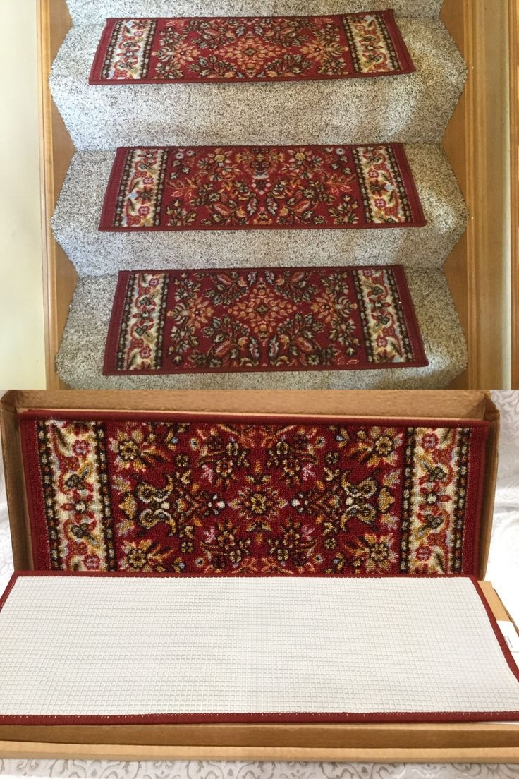 Best 25 Carpet Stair Runners Ideas On Pinterest: 20 Inspirations Of Non-Skid Solid Stair-Tread Rugs
