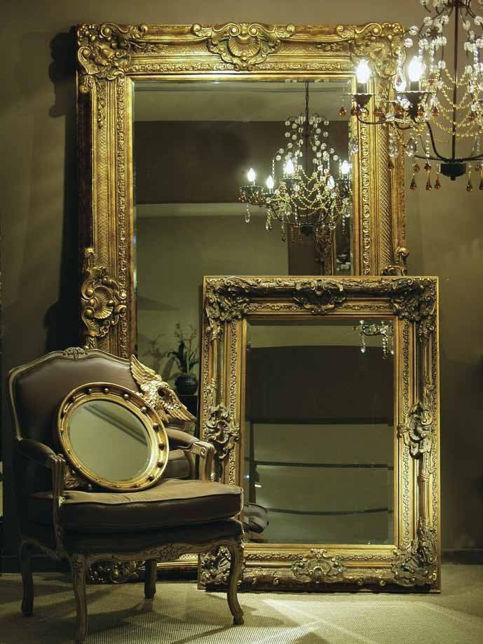 Popular Photo of Large Gold Antique Mirrors