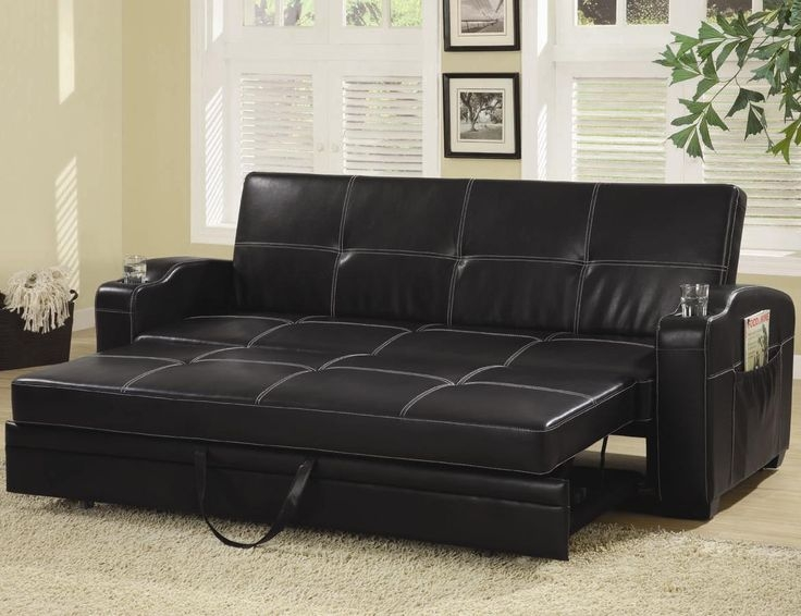 Top 25 Best Leather Sofa Bed Ikea Ideas On Pinterest Blue Sofa Inside Sofa Lounger Beds (#14 of 15)