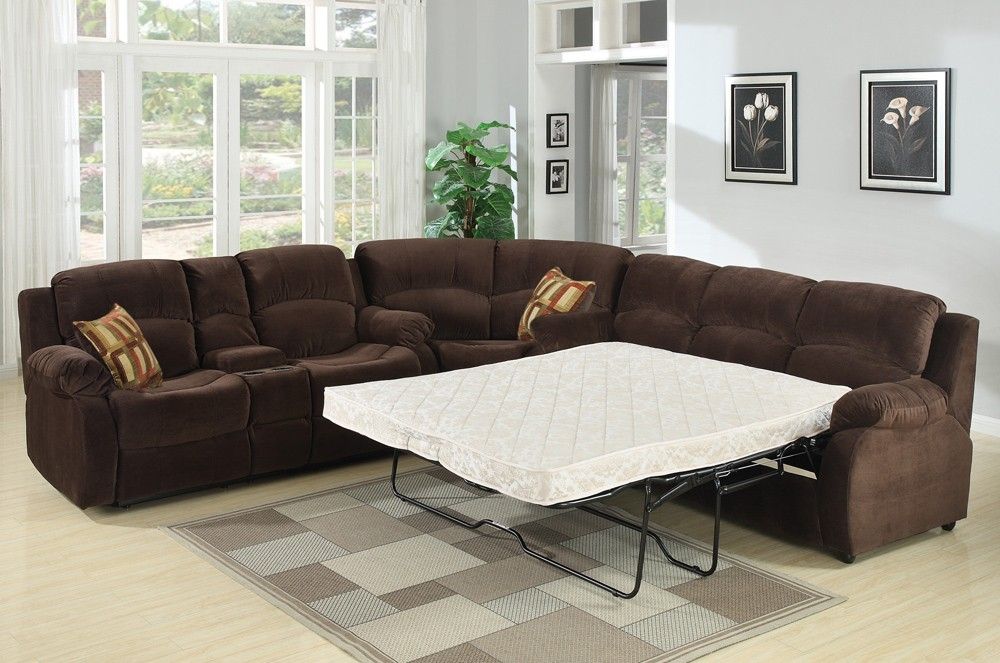 Tracey Recliner Sleeper Sectional Sofa S3net Sectional Sofas Pertaining To Sleeper Sectional Sofas (#15 of 15)