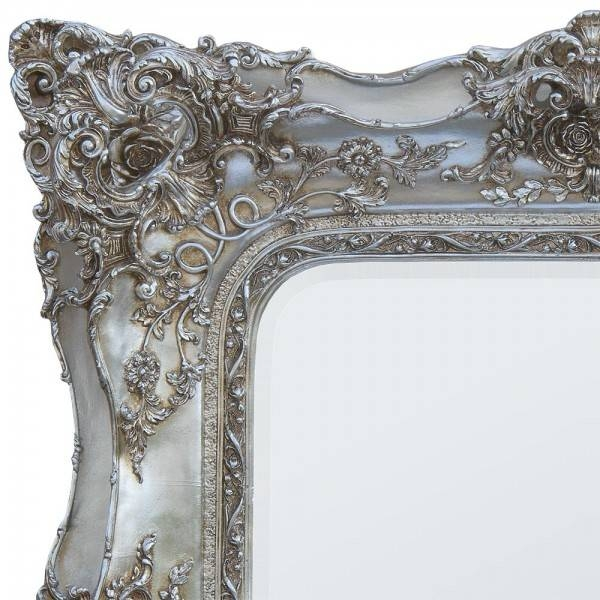Trade Fair 102X120 Rosetti Baroque Silver Bevelled Mirror – Beyond For Silver Baroque Mirrors (#23 of 30)