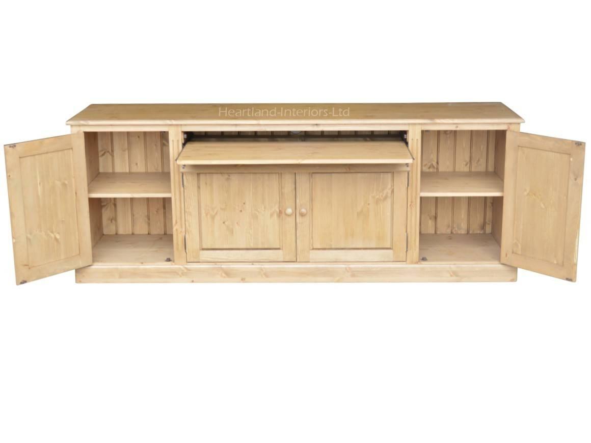 Traditional 7Ft Wide Hidden Home Office Sideboard Desk, Hideaway With Regard To Desk Sideboard (#20 of 20)
