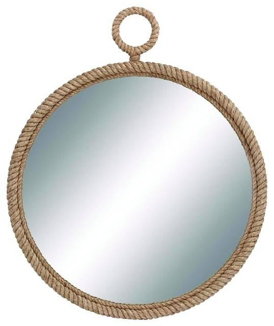 Traditional And Lovely Inspired Round Wood Mirror Gold Bronze Rope Throughout Bronze Wall Mirrors (#18 of 20)