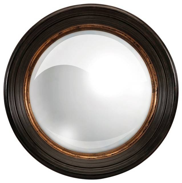 Traditional And Modern Manning Round Mirror Home Accent Decor With Regard To Black And Gold Wall Mirrors (#20 of 20)