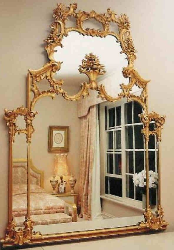 Traditional Mirrors Throughout French Gilt Mirrors (View 30 of 30)