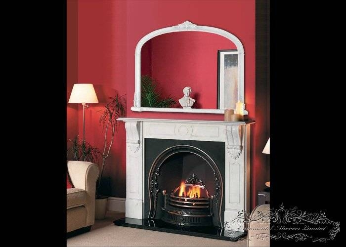 Traditional White Over Mantel Mirror From Ornamental Mirrors Limited Intended For Mantelpiece Mirrors (#30 of 30)