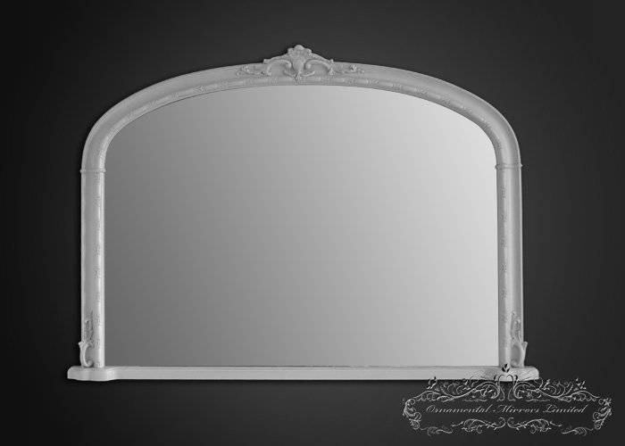 Traditional White Over Mantel Mirror From Ornamental Mirrors Limited Regarding White Overmantle Mirrors (#23 of 30)
