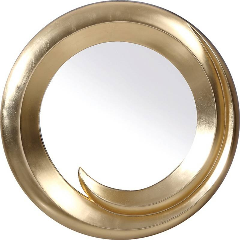 Transitional Gold Round Wall Mirror Throughout Gold Wall Mirrors (#28 of 30)