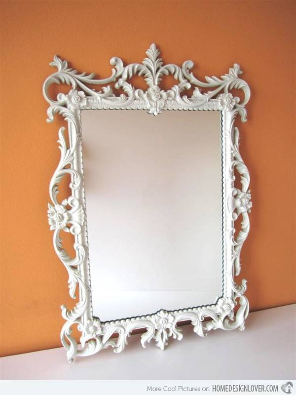 Treasure Memories In These 15 Vintage And Antique Mirrors | Home For White Antique Mirrors (#18 of 20)