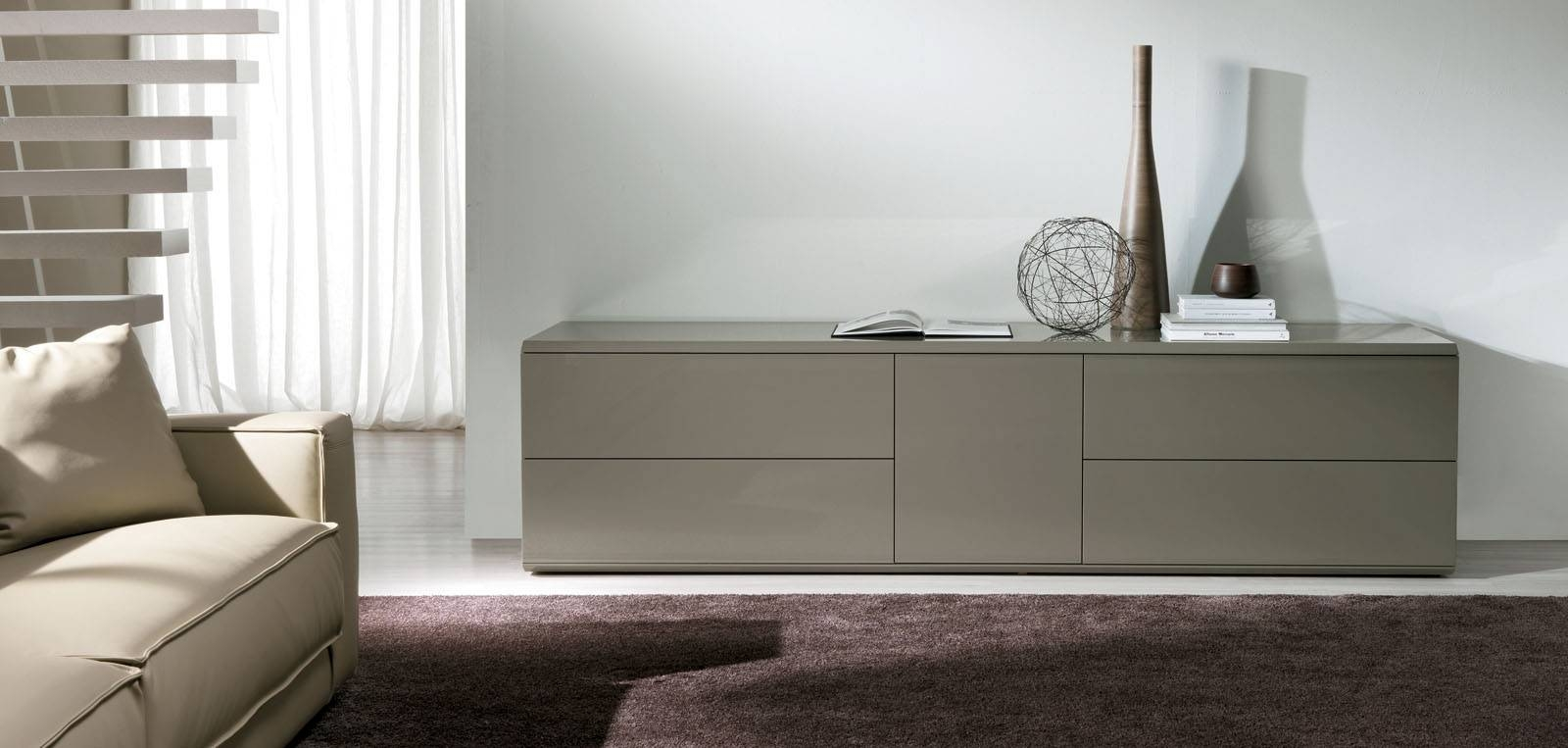 Tremendous Modern Dark Grey Sideboard Design With Two Cabinet Pertaining To Modern Living Room Sideboards (#19 of 20)