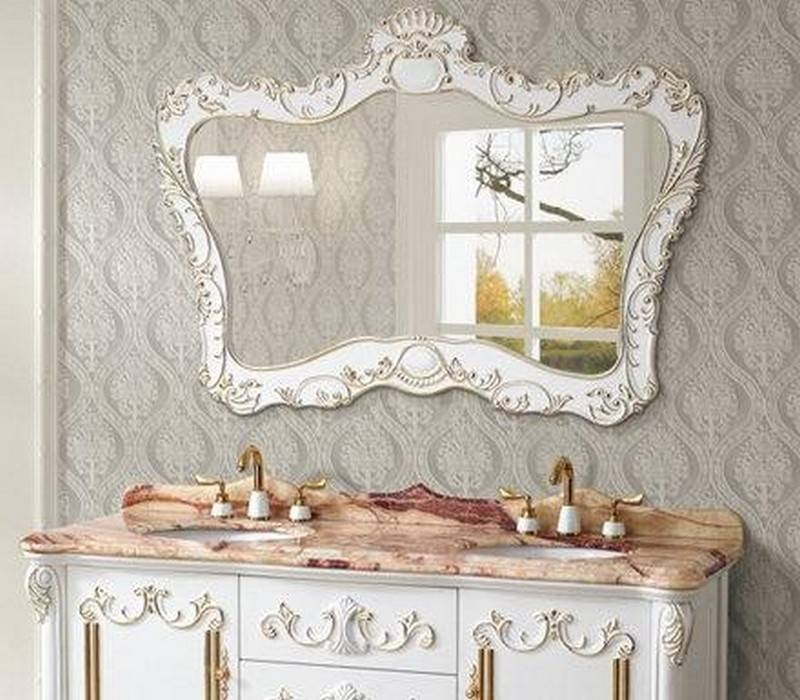 Tremendous Old Fashioned Bathroom Mirrors Buy John Lewis Vintage Inside Vintage White Mirrors (View 16 of 20)